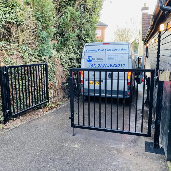 Custom Steel Gates for Pub Garden, Ricksmansworth