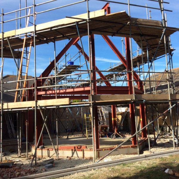 Structural Steel frame for conversion, Whitstable Kent