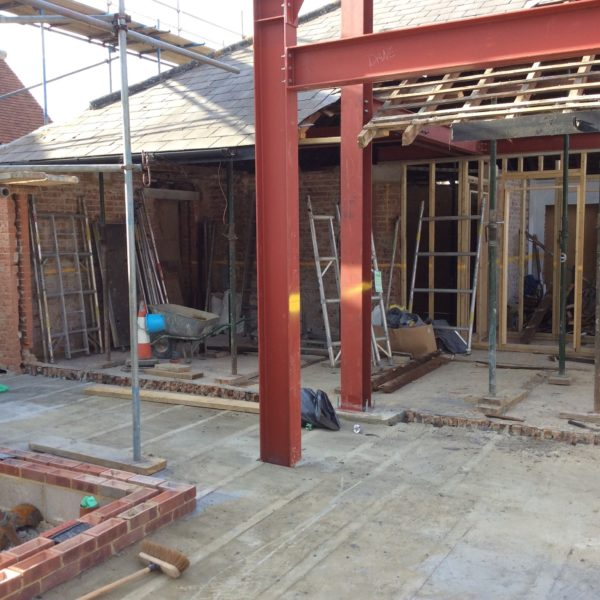 Structural Steel frame for a home extension, Canterbury Kent