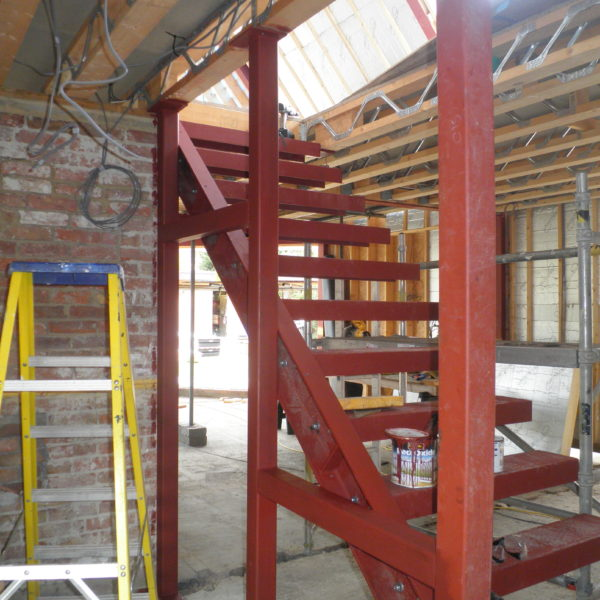 Internal Steel Staircase, Whitstable Kent