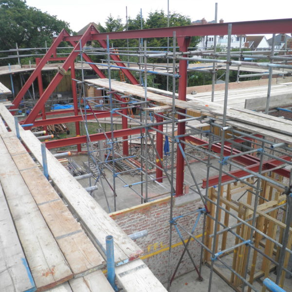 Structural Steel Apex Frame for a New Build , Whitstable Kent