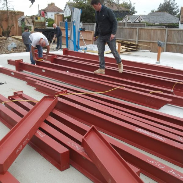 Steel Prep for a large building construction, Whitstable Kent
