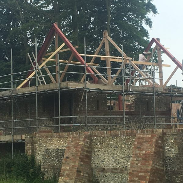 Steel Frame for new roof of conversion, Folkestone