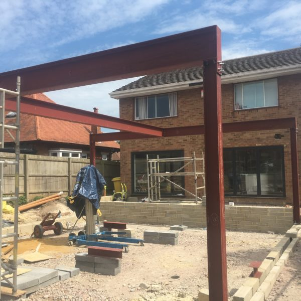 Home extension using Steel beams, Broadstairs Kent