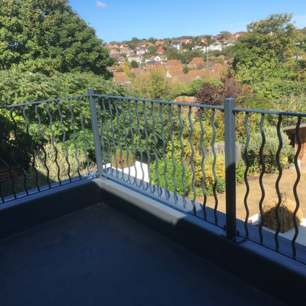 Custom made Wave Steel balcony in Broadstairs, Kent