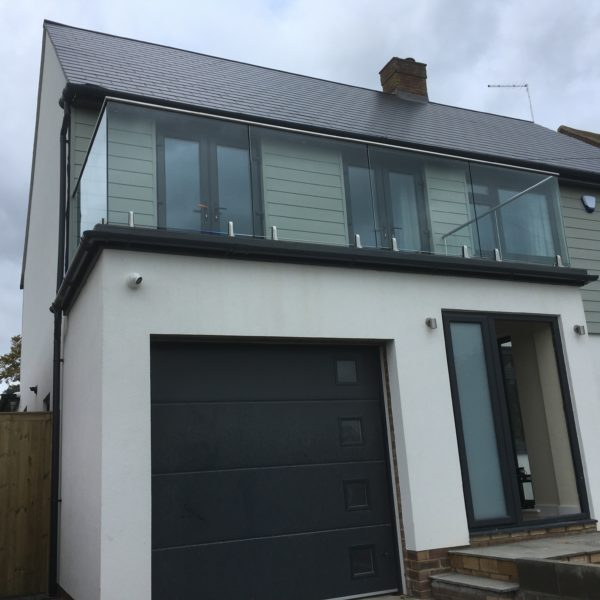 Glass & Metal Balcony, Birchington Kent