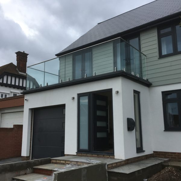 Bespoke Glass & Stainless Steel balcony, Birchington Kent