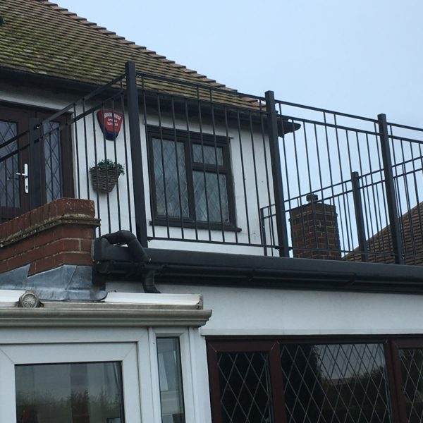 Steel custom railings for Balcony in Canterbury, Kent