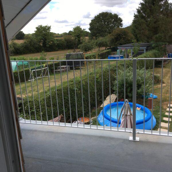 Bespoke balcony railings in Ashford, Kent