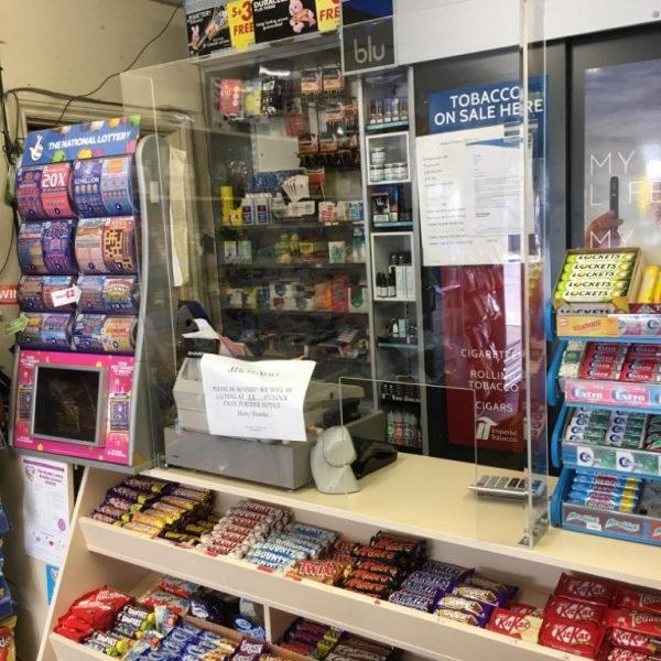 Sneeze Guard for one of our local newsagent, Birchington Kent