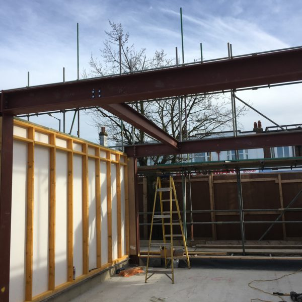 Steel frame construction, Whitstable Kent
