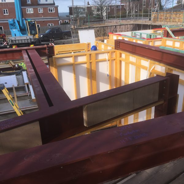 Steel for new build, Whitstable Kent