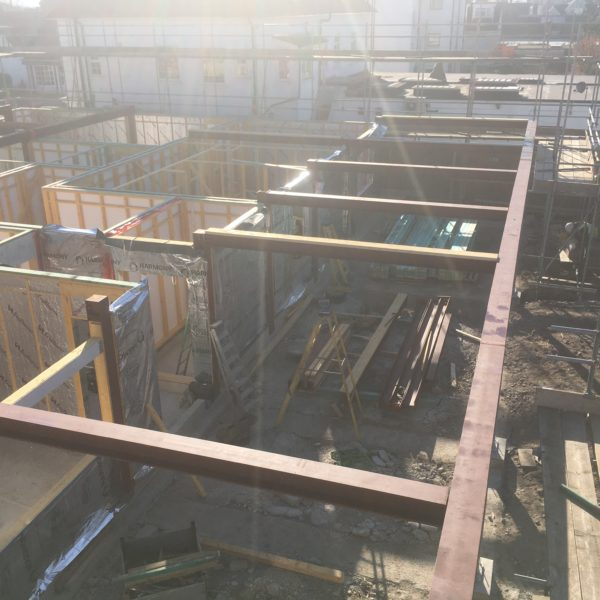 Structural Steel beams for New Builds, Whitstable Kent